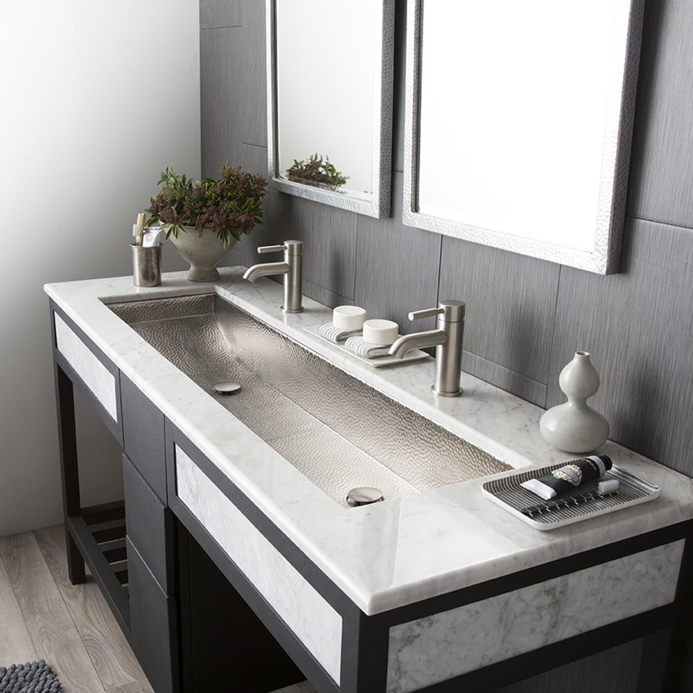 native trails cps508 copper trough bathroom sink 48