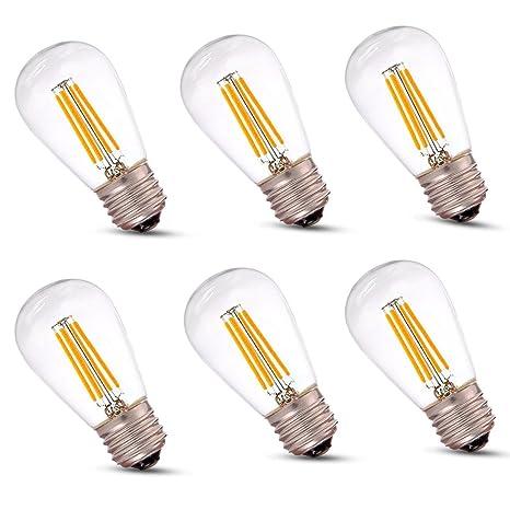 Eagwell LED filamento Vintage bombilla regulable lámpara bombilla de filamentos, E26 Base LED Bombilla de
