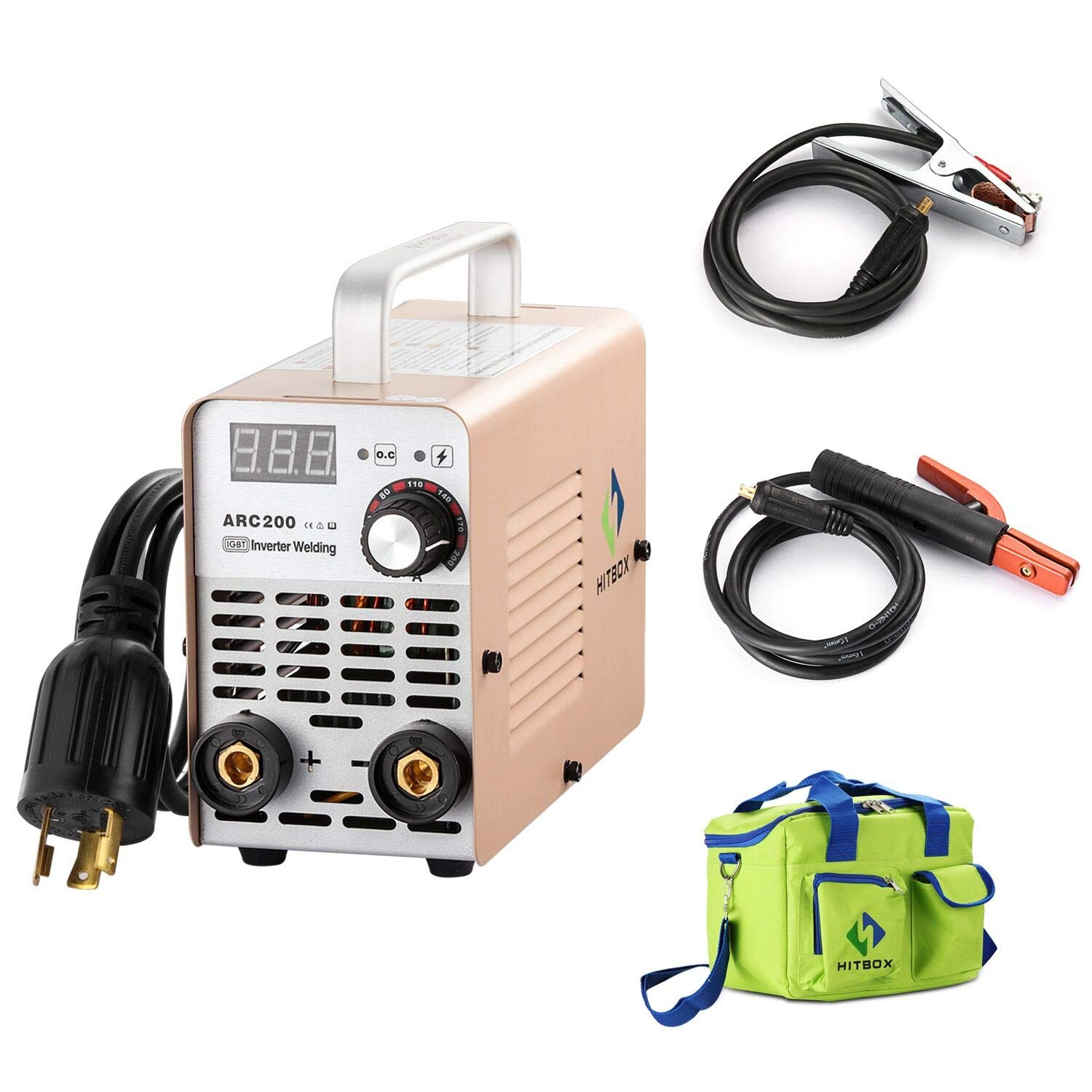 Hitbox Arc Welder 200a Stick Dc 220v Inverter Welding Machine Mma200 Wiring Diagram Outlet Zx7 Rod Portable Complete Package Ready To Use