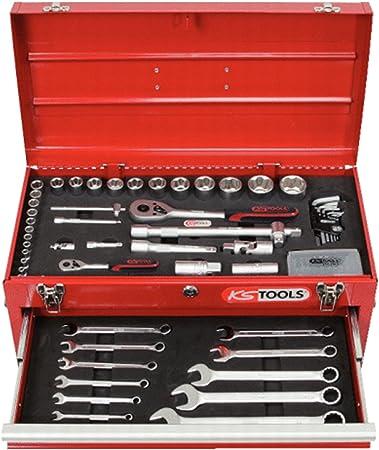 KS Tools 911.0100 Pack de 100 Piezas con Herramientas en Maleta con 3 cajones (tamaño: 1/4