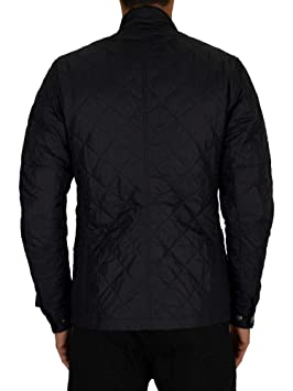 Barbour International Mens Ariel Quilted Jacket - Navy - S ...