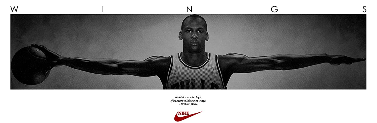 fe5fe98dc4f Amazon.com: (72x23) Michael Jordan (Wings Door) Sports Poster Print : Home  & Kitchen