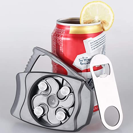 Manual Smooth Edge Can Opener with Locking Feature-No Sharp Edge 1 pack Go Swing Can Opener Bar Tool, Safe Cut Can Opener Effortless Openers for Household Kitchen