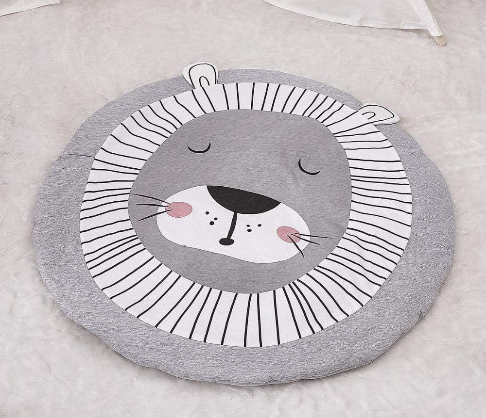 Nordic Ideas Tapis de Jeu Bebe Animaux Lion Coton Rond Tapis /éveil B/éb/é Fille Gar/çon Decoration Chambre Enfant
