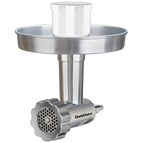 Chef\'sChoice 796 Premium Food Grinder Attachment Designed to fit KitchenAid  Stand Mixers, Silver