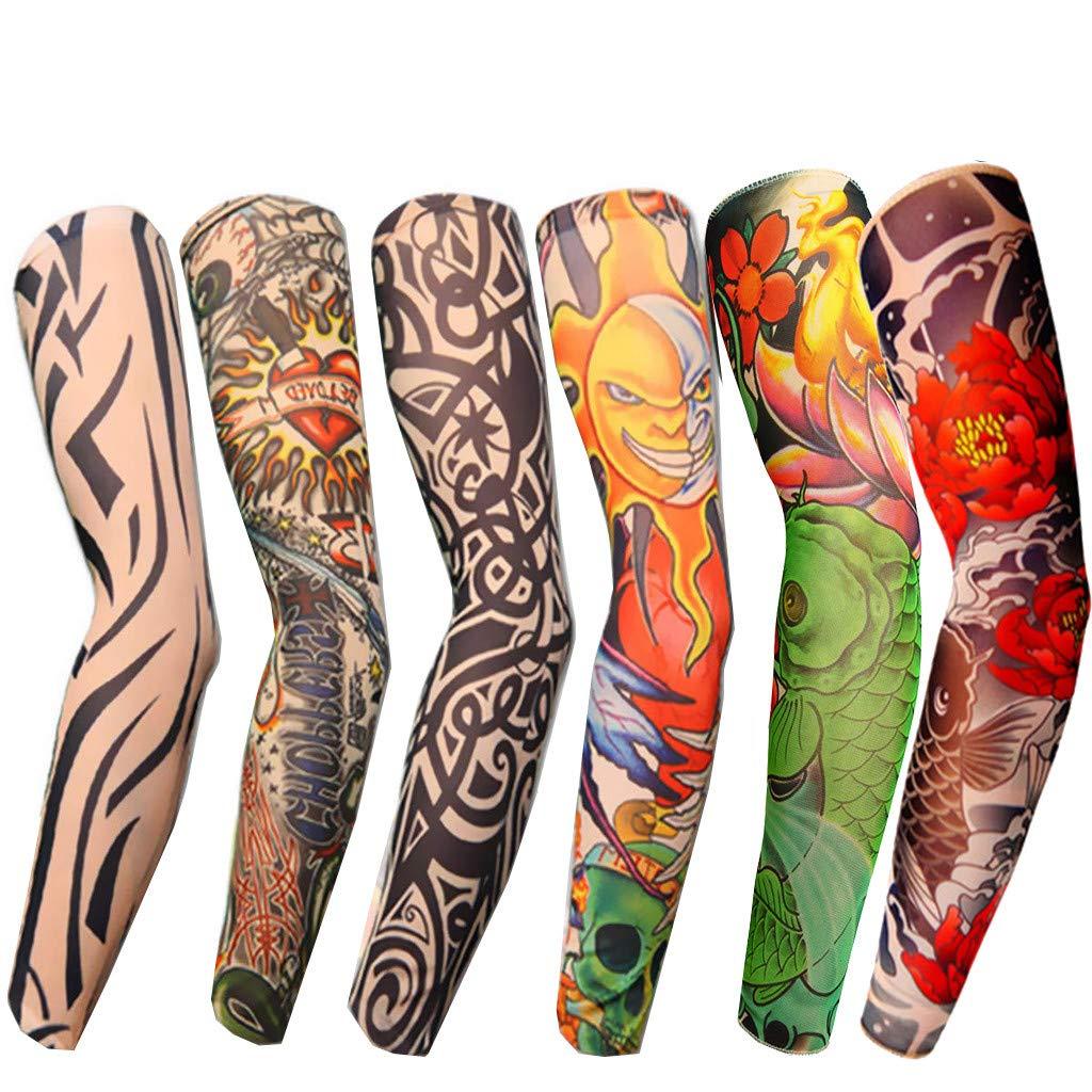 Amazon.com: LLJEkieee - 6 x mangas elásticas para tatuaje ...