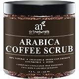ArtNaturals Organic Arabica Coffee Scrub, The Most Powerful Remedy for Varicose Veins, Cellulite, Stretch Marks, Eczema and Acne, Deep Skin Exfoliator, 8.8 oz.