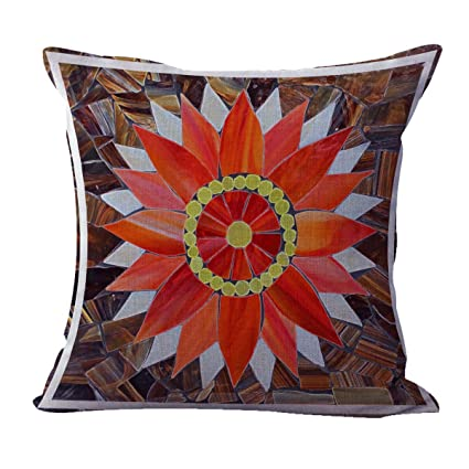Amazon Mandala Flower Completeness Selfunity Cushion Cover Impressive Throw Pillows For Bed Decorating