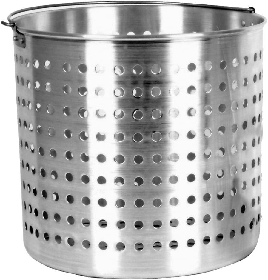 Thunder Group ALSKBK007 Aluminum Steamer Basket, 40 Quart, Silver