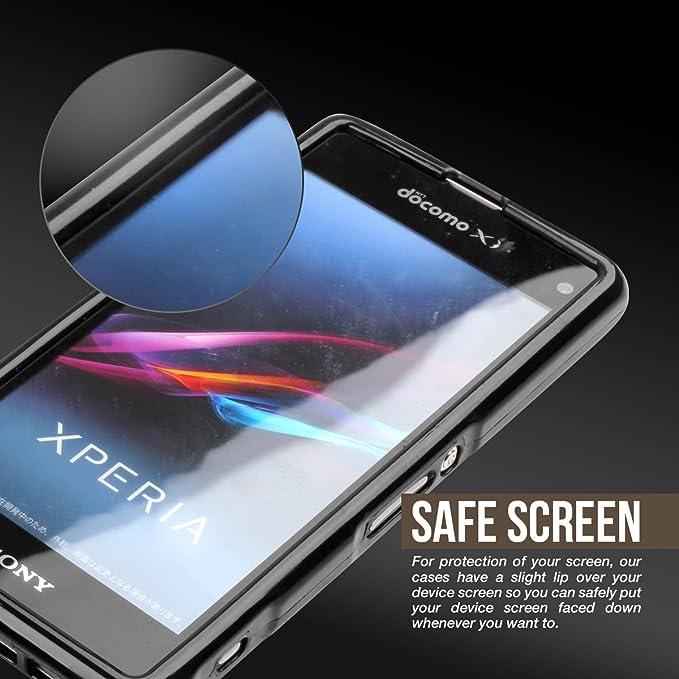 Amazon.com: cruzerlite – Carcasa para Sony Xperia Z1 F, Humo ...