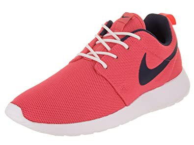 release date d3776 d9c64 Nike Womens Roshe One Low Top Lace Up, Sea Coral Obsidian-White,