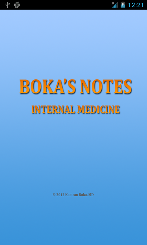 Boka's Notes Internal Medicine