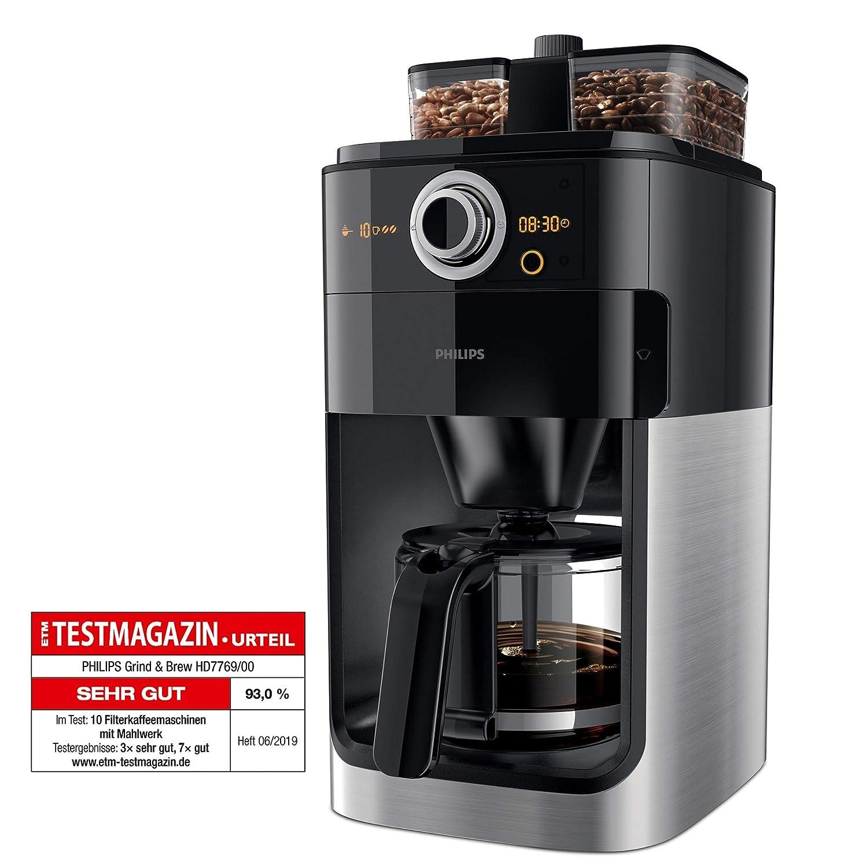 Philips Grind & Brew HD7769/00 - Cafetera (Independiente, Cafetera ...