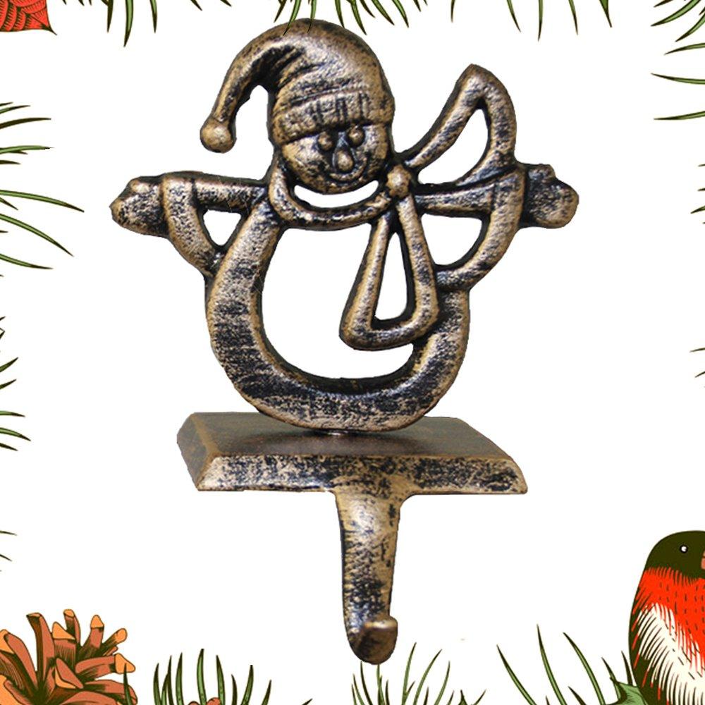 Crochet porte-chaussettes de Noël Ornement Crochets support Heavy Décorations de Noël Cheminée de cheminée Décor Clips Librao