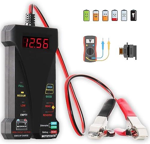 Motorpower MP0514A Digital Battery Tester