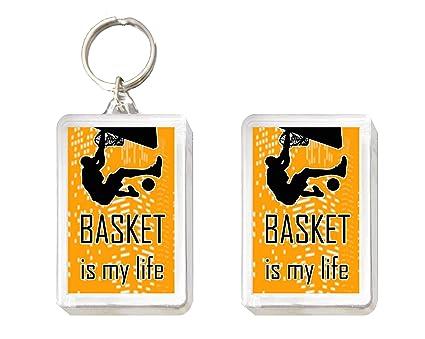 Sconosciuto Llavero y imán de Basket Is My Life.: Amazon.es ...