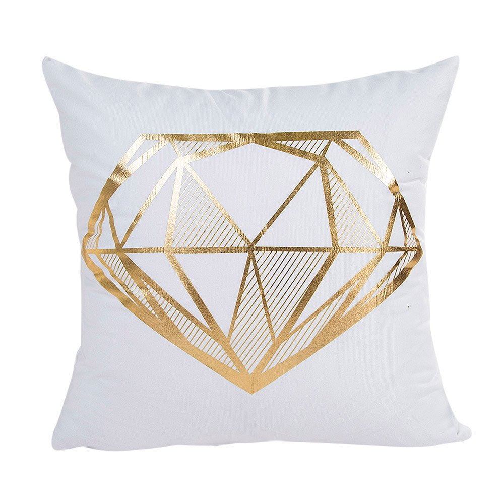 Reooly lámina de Oro Impresa Funda de Almohada sofá Cintura ...