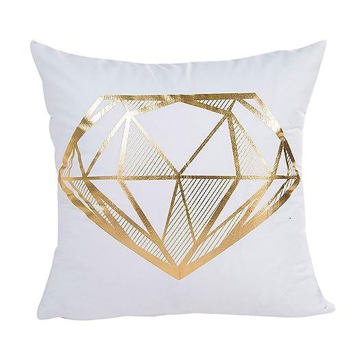 VJGOAL Elegante Jacquard Gold Foil Printing Funda de ...
