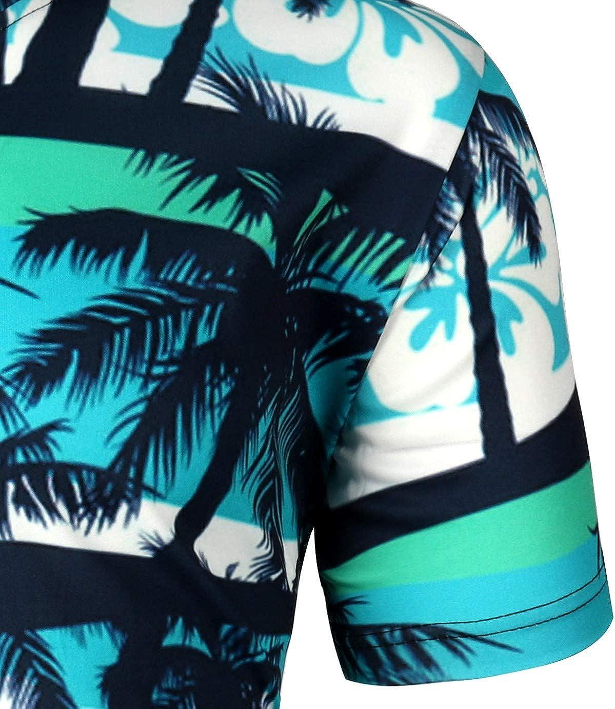 MOTOCO Hombre Camisas Hawaianas Ocasionales de la Camiseta ...