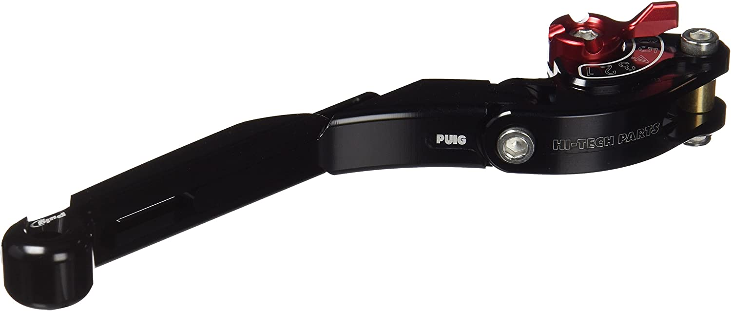 Puig 14NNR Black and Red Foldable Brake Lever Extendable