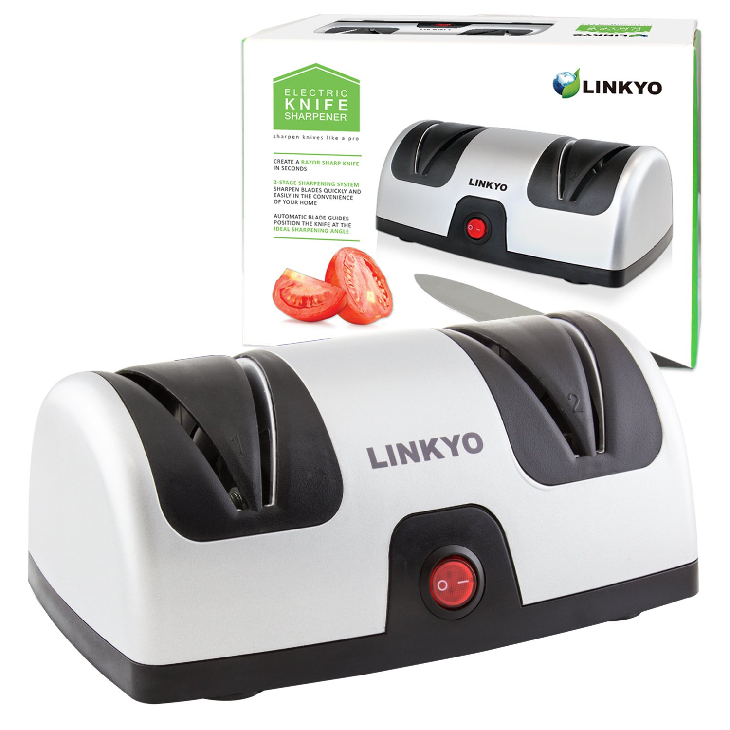 LINKYO Electric Knife Sharpener, Kitchen Knives Sharpening System by LINKYO (Image #1)