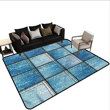 Amazon.com: Alfombras azules para sala de estar o dormitorio ...