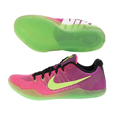 Nike Men's Kobe XI EP, MAMBACURIAL-PINK FLASH/RED PLUM-ACTION GREEN