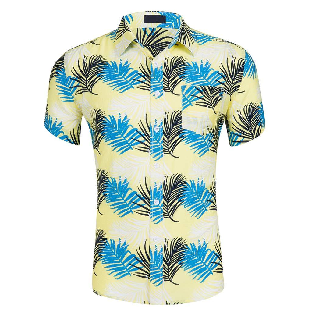 Men's Hawaiian Holiday Shirts Beach Party Casual Cotton Shirt for Men by Nevera
