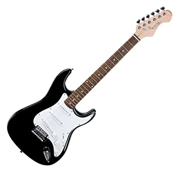Rocktile Sphere Classic Black E-Gitarre (weißes Schlagbrett, 3x ...