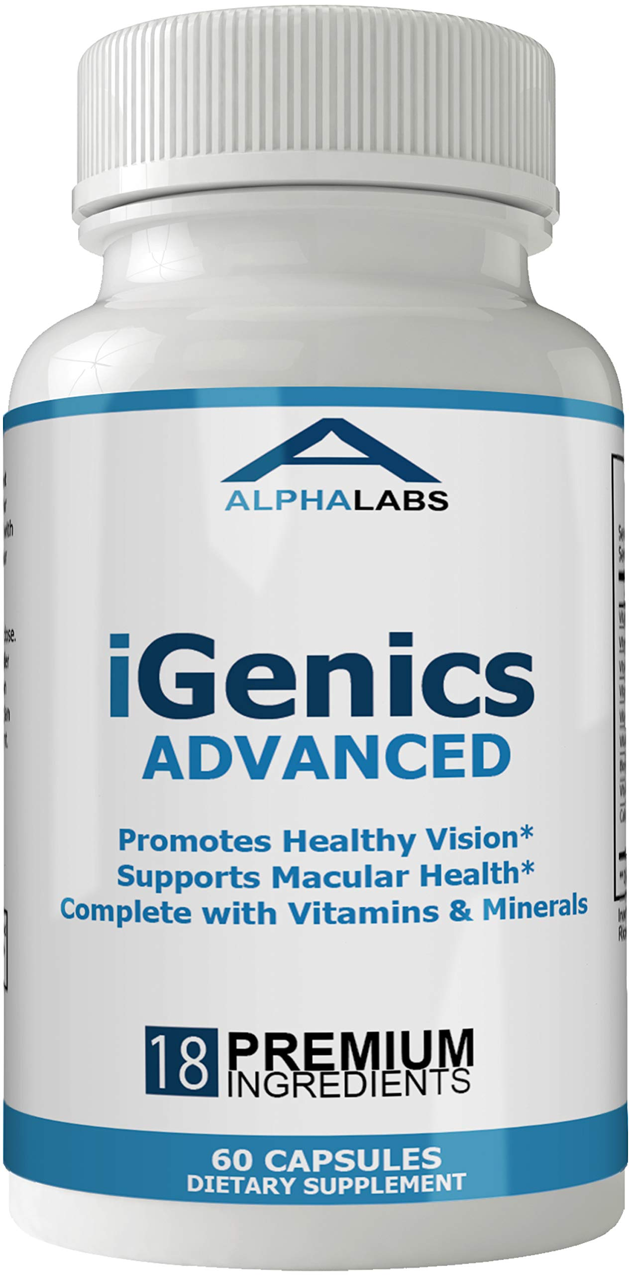 Igenics Eye Supplement Advanced Vision Vitamins with Lutein and Zeaxanthin by nutra4health LLC