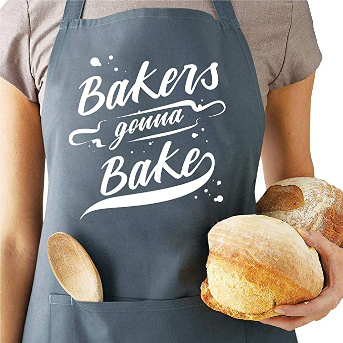 Housewarming Gift Unisex Apron Women/'s Apron with Pockets Long Apron Bakers Apron Kitchen Cooking Apron Funny Baking Embroidered Apron