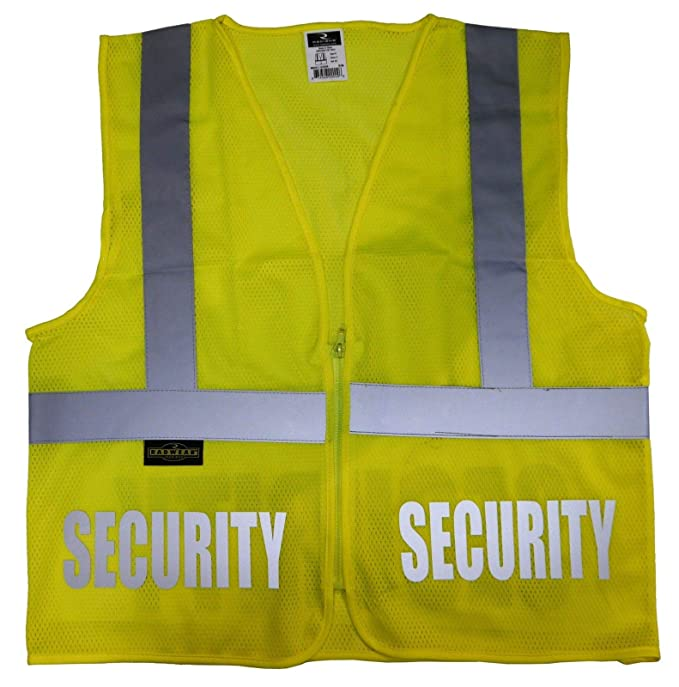 Amazon.com  Conspiracy Tee Security Safety Vest with Reflective ... 7a4956a03a2