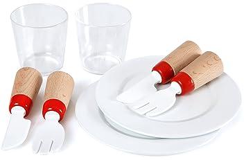 Brio - Set de vajilla y cubertería de juguete: Amazon.es: Juguetes y juegos