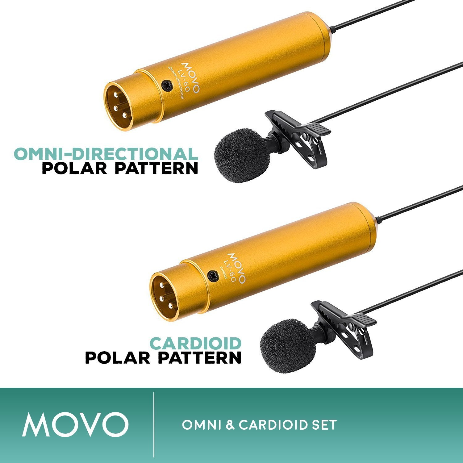 Zoom H4n PRO 4-Channel Handy Recorder Bundle with Movo Pro Grade Omnidirectional and Cardioid XLR Lavalier Microphones by Movo (Image #3)