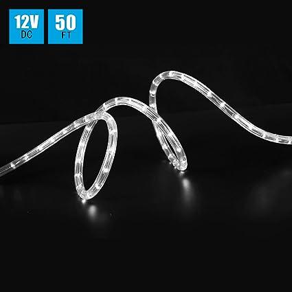 Amazon shine decor 12v led rope light 13mm diameter 50ft shine decor 12v led rope light 13mm diameter 50ft 36ledm mozeypictures Images