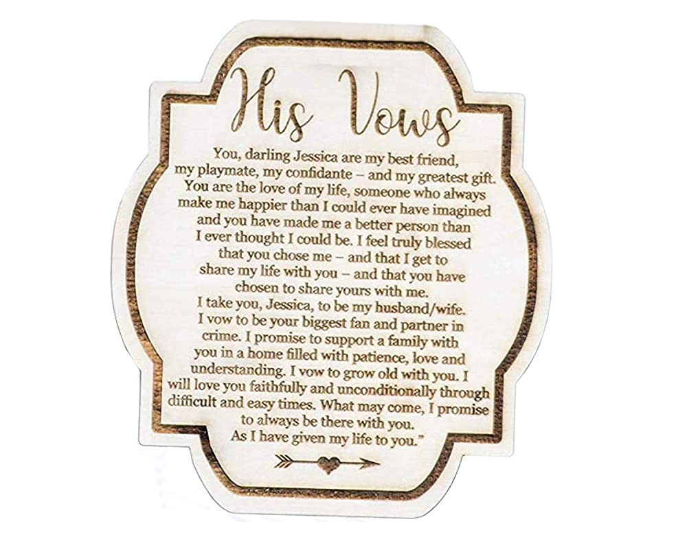 Marriage Vow Cards Custom His and Her Vow Cards His and Her Vow Card Set Wedding Vows Personalized Vow Card Keepsakes