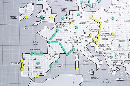 Mapnético Mapa de Europa magnético de diseño con imanes. Planifica ...