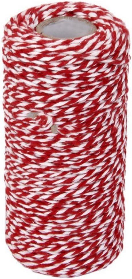 Monbedos Cuerda de algodón de 100 m para decorar tartas y ...