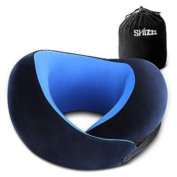 Amazon.com: Shizzz - Almohada de viaje para avión, espuma ...