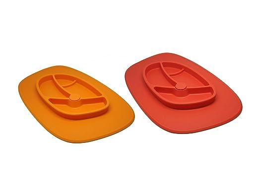 Xena 2 piezas neón naranja rojo flexible para bebés y niños bebés ...