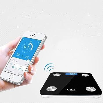 CCDZ Básculas Inteligentes De Grasa Corporal Bluetooth - Básculas De Baño De Pesaj Inalámbricas Grasa Corporal
