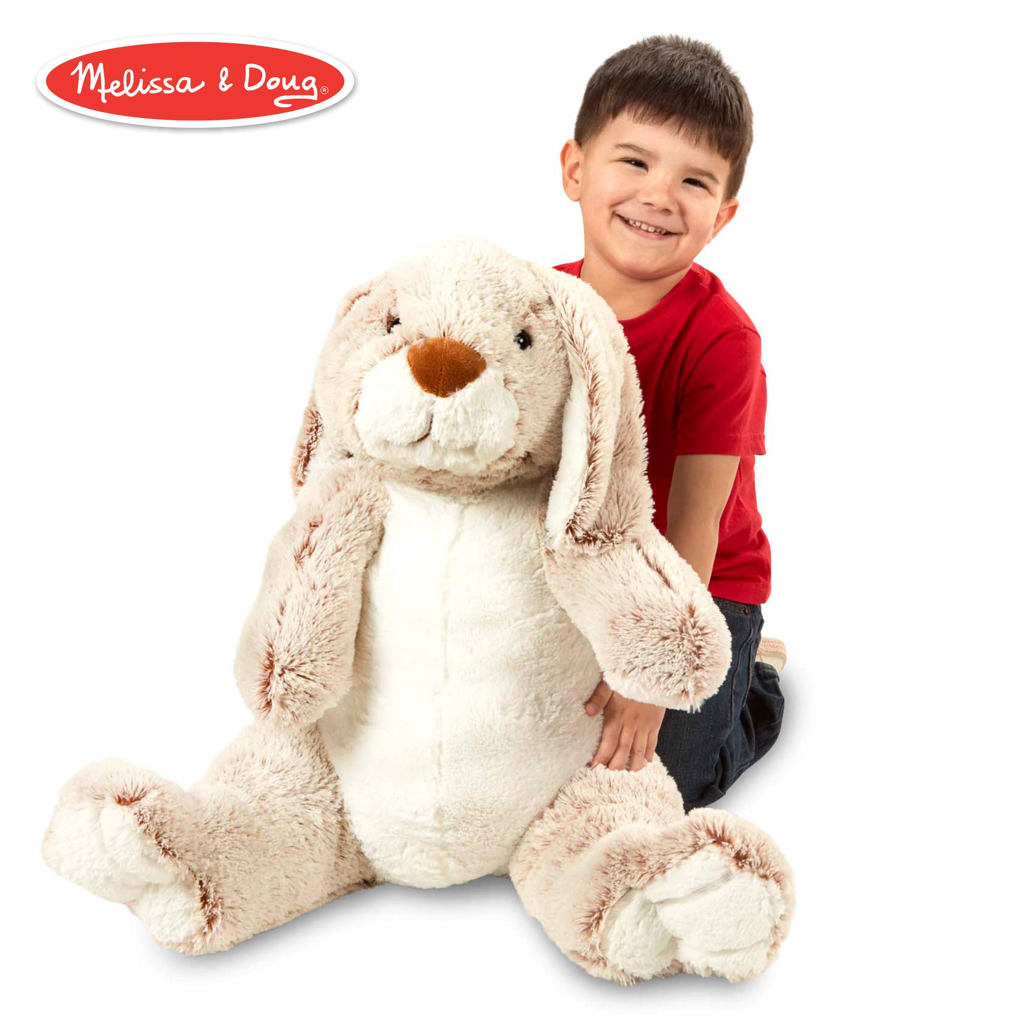 Melissa & Doug Jumbo Burrow Bunny Rabbit Stuffed Animal (21'' Tall) by Melissa & Doug