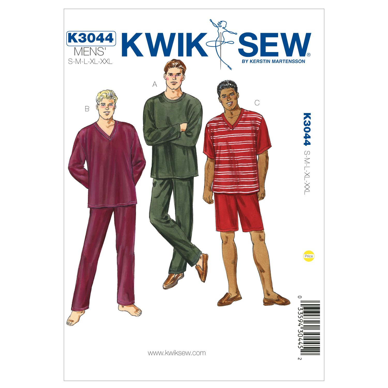Kwik Sew 3044 - Patrones de costura para confeccionar pijamas de ...