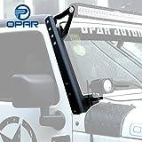Opar 54inch Straight LED Light Bar Upper Windshield Mounting Brackets for 2007-2018 Jeep Wrangler JK & Wrangler Unlimited - Pair