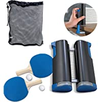 TOSSNOVE Ping Pong Net for Any Table Retractable Ping Pong Set 2 Table Tennis Paddles 2 Ping Pong Balls Training Anywhere Home Indoor or Outdoor Game Table Top to Go Portable Table Tennis Set