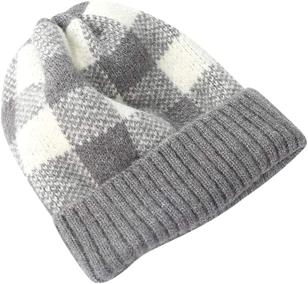 Knit Beanie Cap Winter Warm...