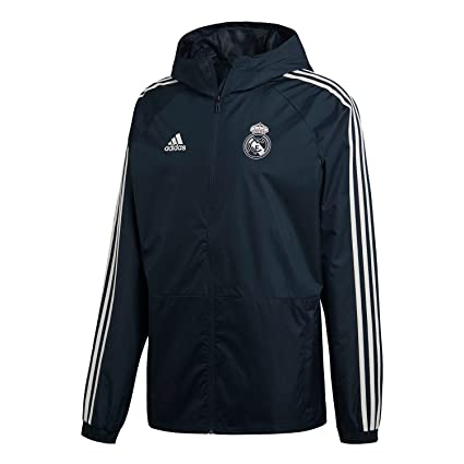 2812eed00 Image Unavailable. Image not available for. Color  adidas 2018-2019 Real  Madrid Training Rain Jacket ...