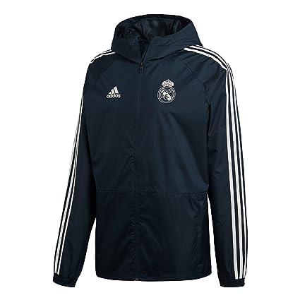 adidas Real Madrid Chubasquero, Hombre, Gris (ónitéc/blabas), 3XL: Amazon.es: Deportes y aire libre