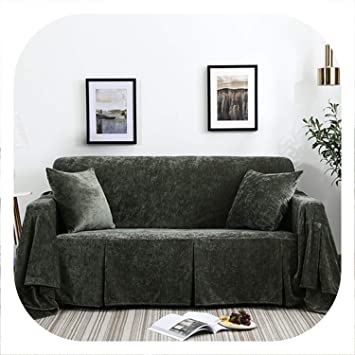 Superb Amazon Com Seokjin Flannelette Sofa Towel Sofa Slipcover Theyellowbook Wood Chair Design Ideas Theyellowbookinfo