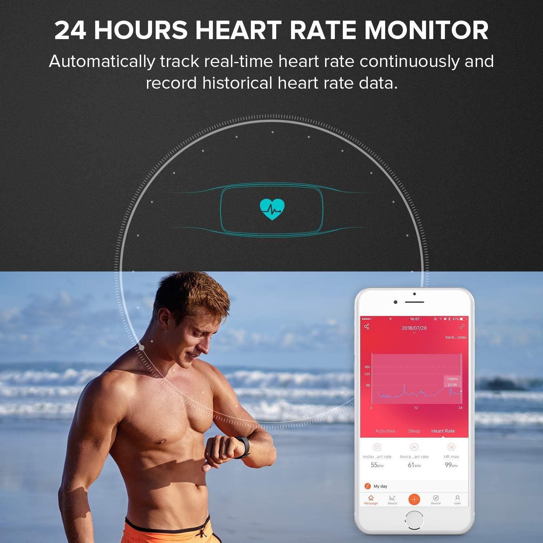 Runme Pulsera Actividad,Fitness Tracker,Podómetro, Impermeable ...